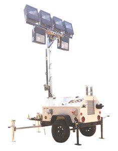 Hazardous Environment Design Light Tower  8kw - 6 - 1000w Metal Halide Floodlights