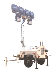 Hazardous Environment Design Light Tower  8kw - 6 - 1000w Metal Halide Floodlights