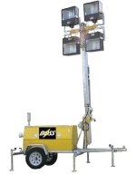 Hazardous Environment Design Light Tower  10kw - 4 - 1000w Metal Halide Floodlights