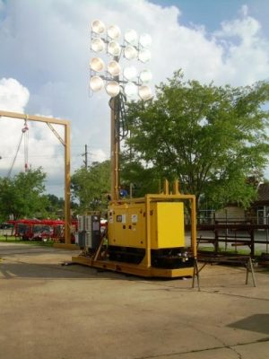 SKID MOUNTED ULTIMATE 60 FOOT - 1000w - 16 light -Light Tower - 25kva Gen-set