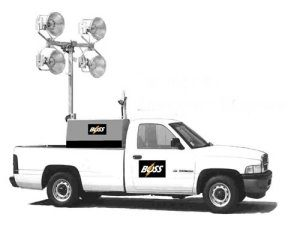 TRUCK MOUNTED Light Tower with Remote Control Features
