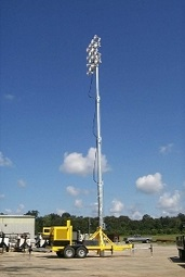 100 FOOT ULTIMATE PORTABLE STADIUM LIGHT-TOWERS SIXTEEN-FLOODLIGHTS