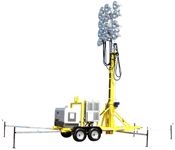 60 Foot Ultimate Stadium Portable Light Tower 16 X 1000w